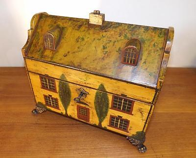 A Quality Antique Grand Regency Old Country House Tea Caddy. 1820'S