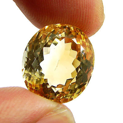 16.25 Ct Natural Citrine Loose Gemstone Oval Cut Beautiful Stone - 10631