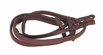 "Heritage English Leather Rubber Reins BROWN or BLACK 54"" + Worldwide Shipping"