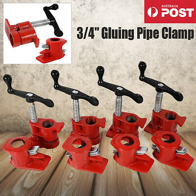 """AU GLUING PIPE CLAMP 3/4""""inch 4 SETS -WOODWORKING VICE HAND TOOL HEAVY DUTY CAST"""