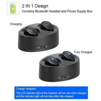 K2 Mini True Twins Wireless Bluetooth Stereo In ear Headset Earphone Earbuds Mic