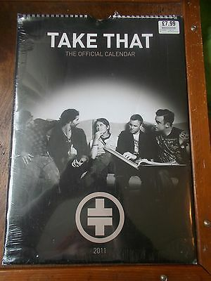 Take That Offical Calendar 2011 With Robbie Williams New and Sealed