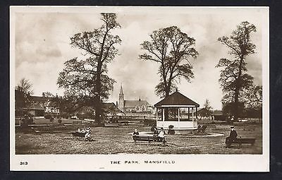 Mansfield The Park Bandstand (RP 1914)