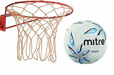 Wall Mounted Netball Ring and Mitre Ball Set NEW