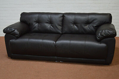 Clearance - Sienna Brown Leather 3 Seater Sofa - T3809