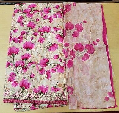 Indian Punjabi Suit Material Unstiched