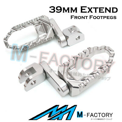 For GSX 1300R Hayabusa 08 09 10-13 Silver Touring Front Foot Pegs 39mm Extension