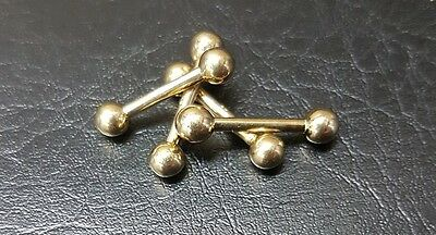 9ct gold barbell