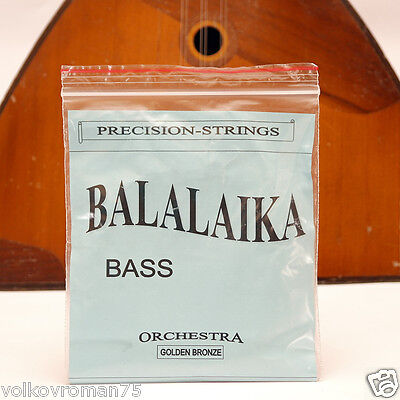 Three (3) string BALALAIKA Bass Balalayka Bronze strings 700-710 mm scale, SOLID