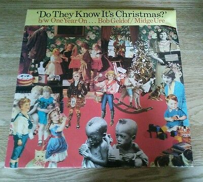 """Band Aid Do They Know Its Christmas Feed The World 7"""" Original & 12"""" One Year On"""