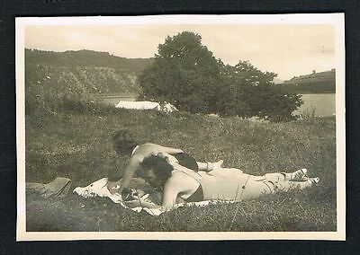 EDERSEE, Foto vintage Photo, 1937, Frau Bademode swimwear woman /114