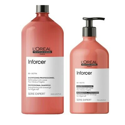 Loreal Inforcer B6 + Biotin Strengthening Shampoo 1500ml and Conditioner 750ml
