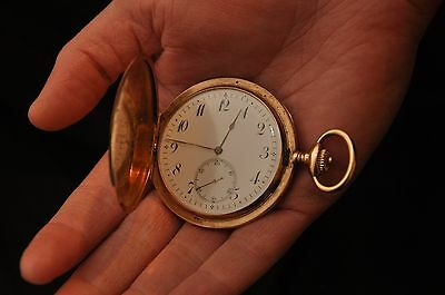 """Antique Ulysse Nardin Pocket 14k Gold  Watch Rare Early 1900""""s With 18k Gold Cha"""