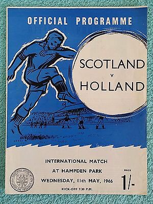 1966 - SCOTLAND v HOLLAND PROGRAMME - FRIENDLY