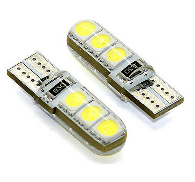 2 x LED T10 6 SMD 5050 Lampe CANBUS Xenon Weiss W2.1x9.5d 12V
