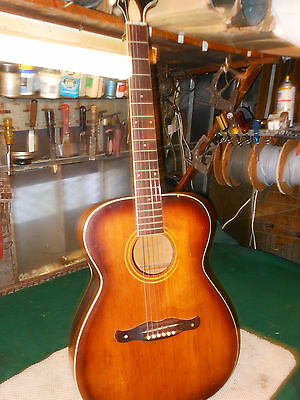 Harmony Vintage Acoustic Guitar H-167 1960's Need Work.. For Repair