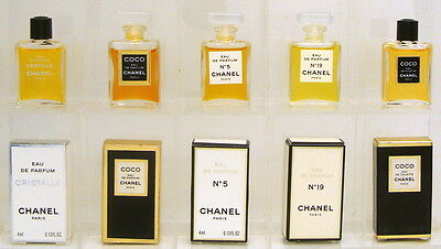 CHANEL Collection 5 mini perfumes woman: chanel 5, coco, cristalle, chanel 19