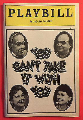 YOU CAN'T TAKE IT WITH YOU Playbill w/ Jason Robard, Colleen Dewhurst June 1983