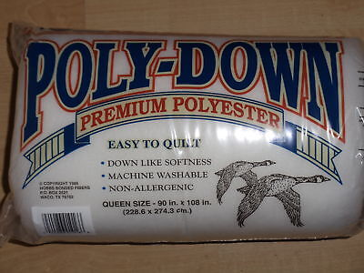 """Polydown Quilt Batting/Wadding for Patchwork Quilts - Queen size 90"""" x 108"""""""