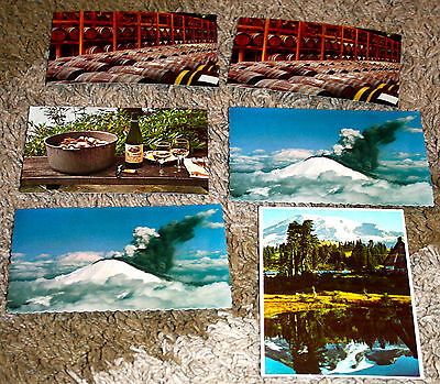 Lot of 6 postcards from Washington state. 1970's-1980's. Unused.