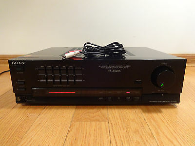 Sony TA-AX285 Intergrated Stereo Amplifier 5-Band Graphic Equalizer Japan TESTED