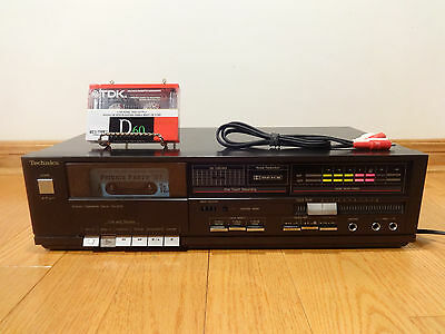 Technics RS-B15 Stereo Cassette Tape Deck BLACK Japan TESTED 100% Works Great!