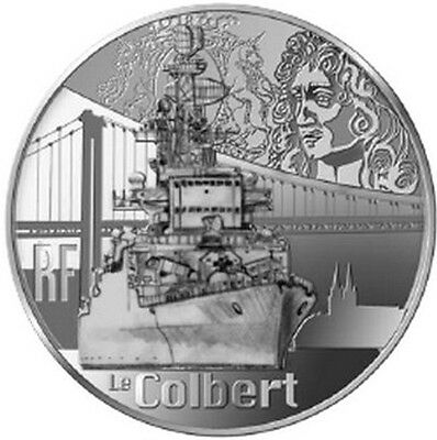 FRANCE 10 Euro Argent BE 2015 Grand Navire Français le Colbert - Silver coin