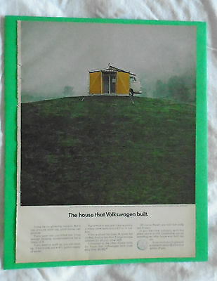 #1 April 1969 Volkswagen Camper Campmobile magazine print ad advertisement