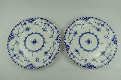 Crescent China 2 Dessert Plates Like Half Lace & Denmark Pattern, George Jones