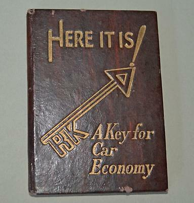 Old miniture Motoring Book / London Map / Advertising From 1938.