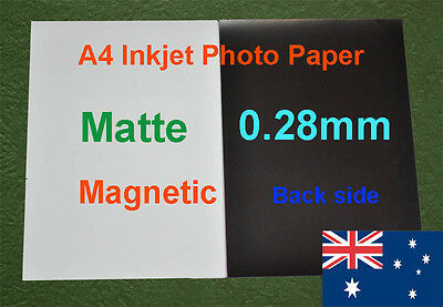 10 sheets A4  Inkjet Matte Magnetic Photo Paper 0.28mm