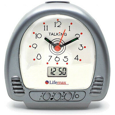 Lifemax Talking Alarm Clock, Clock for Visually Impaired, Teaching Clock for Kid