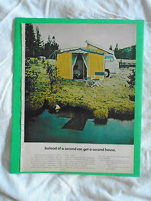 #11 March 1969 Volkswagen Camper Campmobile magazine print ad advertisement