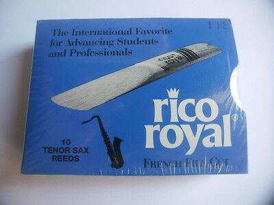 RICO ROYAL - 10 Anches-reeds saxophone tenor Force 1,5 - NEW