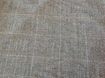 Grey Prince Of Wales Check Suiting Fabric