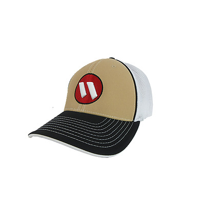 Worth Hat by Pacific 404M Blk/White/Gold/Blk/Red/WH SM/MD (6 7/8- 7 3/8), NEW