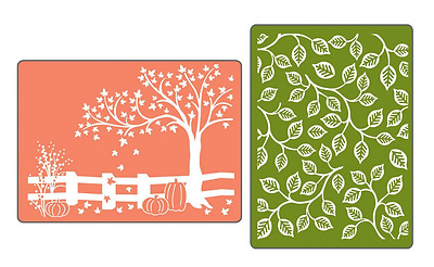 Sizzix Textured Impressions Embossing Folders 2-Pack, Fall Set by Rachael Bright