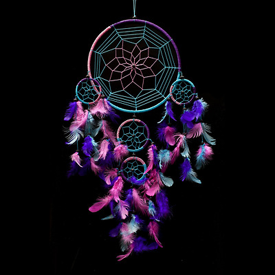Caught Dreams Indian American Inspired Large Dream Catcher made by Native Artisa