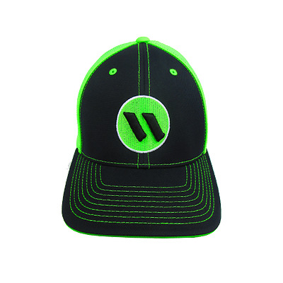 Worth Hat by Pacific 404M Blk/Neon Grn/Blk/Wht/Neon LG/XL (7 3/8- 8), NEW