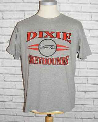 Size L vintage 90s USA American Greyhounds short sleeve t-shirt grey marl (HZ18)