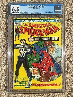 The Amazing Spider-Man #129 (Feb 1974, Marvel) ~ 1st PUNISHER ~ CGC 6.5 FN+