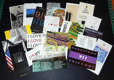 Lot Art Cards Ephemera Press Releases 9/11 September 11, 2001 Twin Towers WTC