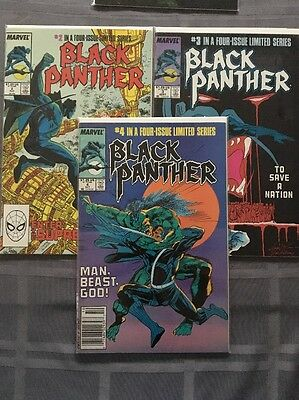 Black Panther Issues 2,3 & 4 Of The 1988 Mini Series