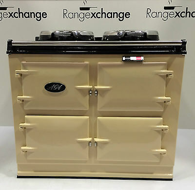 Reconditioned Aga Cooker 3 oven 13amp Electric with AIMS. Cream