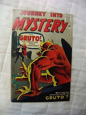 JOURNEY INTO MYSTERY #67.. (silver age)…