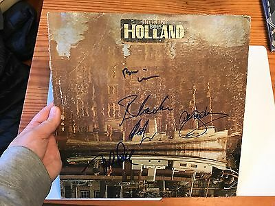 "The Beach Boys Brian Wilson  Mike Love +2 Signed Autographed ""Holland Lp Record"