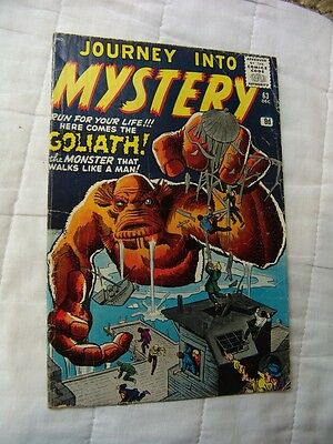 JOURNEY INTO MYSTERY #63.. (silver age)…