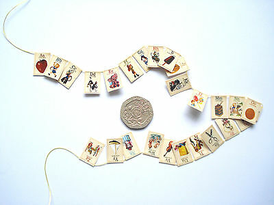 1/12th  Dolls House Miniature Alphabet Bunting