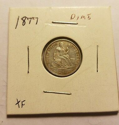 1877 Seated Liberty Dime XF - Extra Fine 24.50