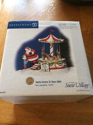 DEPT 56 SNOW VILLAGE SANTA COMES TO TOWN 2004 CAROUSEL New In Box Christmas